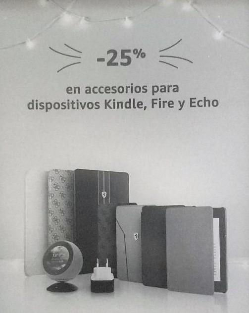 25% descuento en accesorios Kindle y Fire
