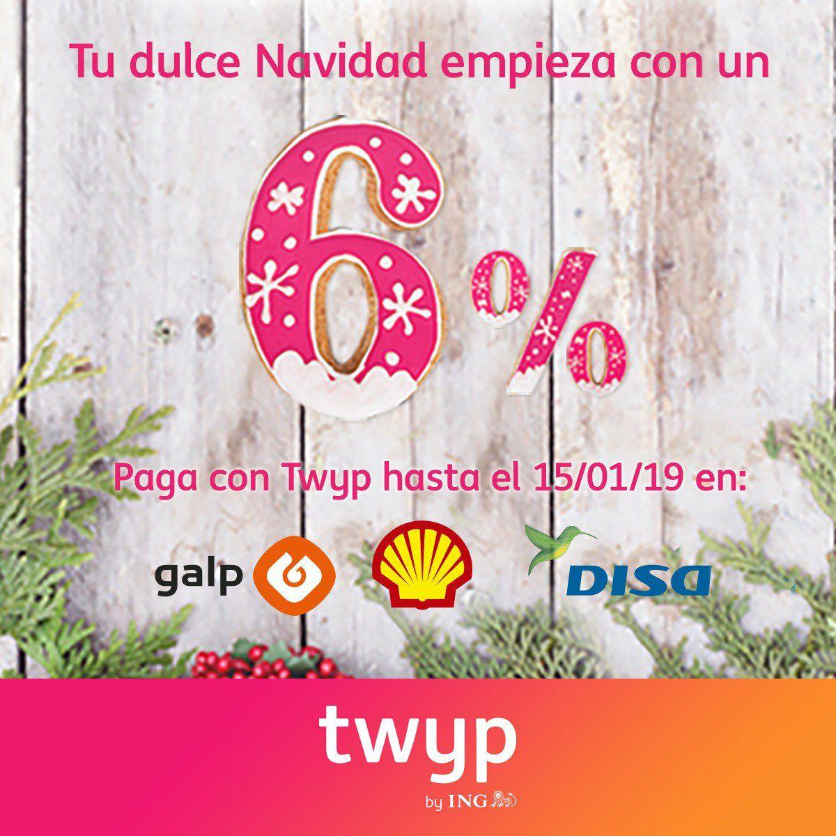 6% reembolso en Galp, Shell y Disa con Twyp