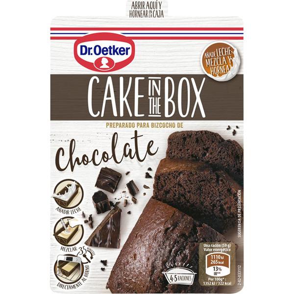 2X1 bizcocho de chocolate o vainilla Dr Oetker