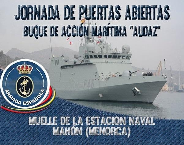 Entrada gratuita al buque de la armada Audaz
