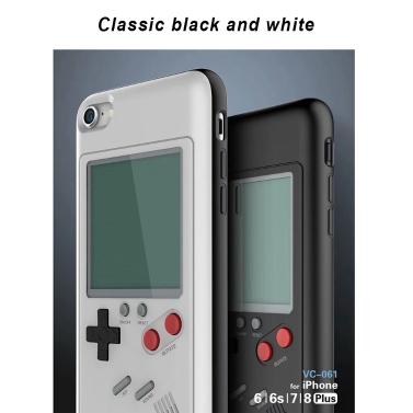 Funda para iPhone 6/6S,6P/6SP,7/8,7P/8P opcional (con el juego tetris incorporado)