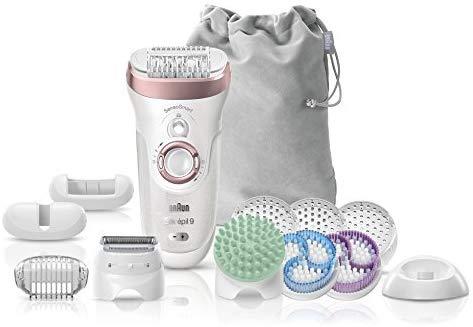 Braun Silk-épil 9 9/990 SkinSpa - 4 en 1 con SensoSmart y sistema de depilación, exfoliación y cuidado de la piel, Wet&Dry con 13 accesorios