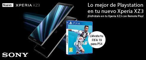 Fifa19 Gratis por la compra de Sony XZ3 (40 Unidades)