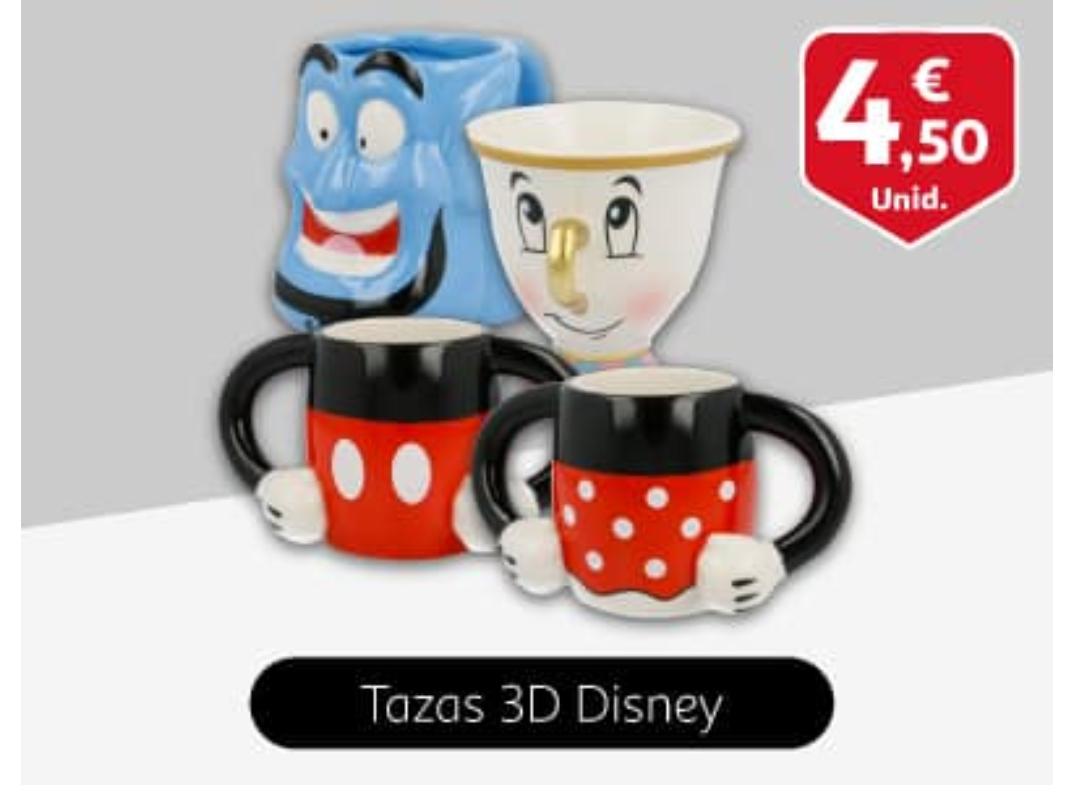 Tazas Disney 4,5€ en Alcampo