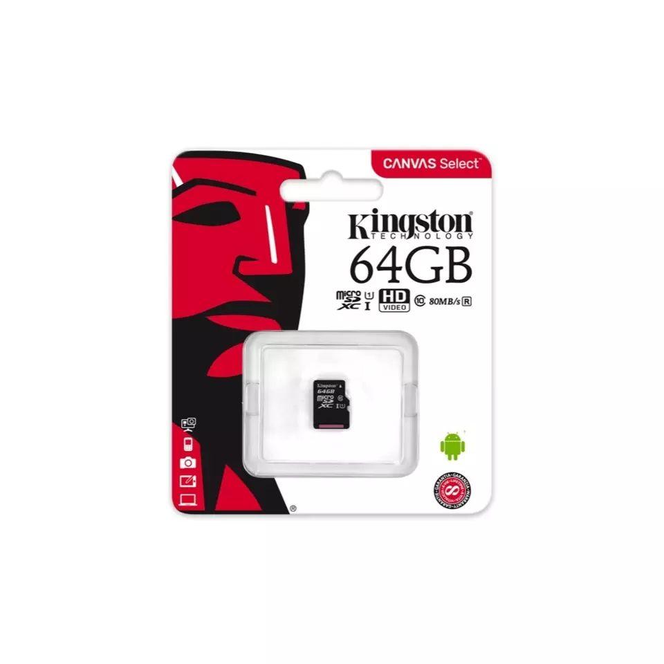 AliExpress Plaza - micro SD Kingston 64 GB clase 10 UHS-1 sin adaptador sd