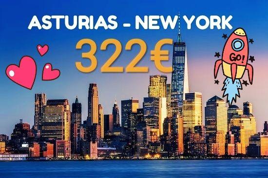 ** Vuelo Asturias - Nueva York ** para Mayo 19' (con 1escala)