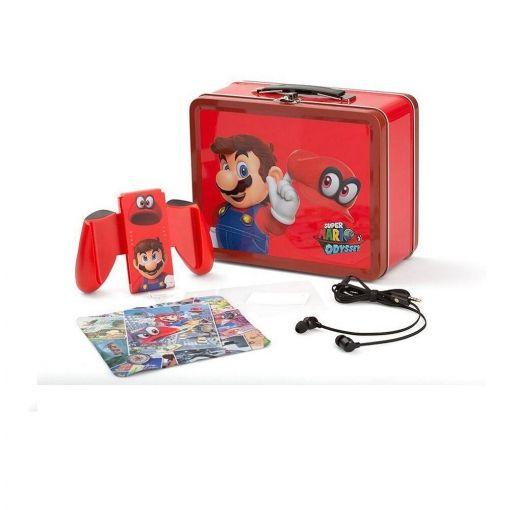 Kit maleta metálica coleccionista edición Super Mario Odyssey para Nintendo Switch