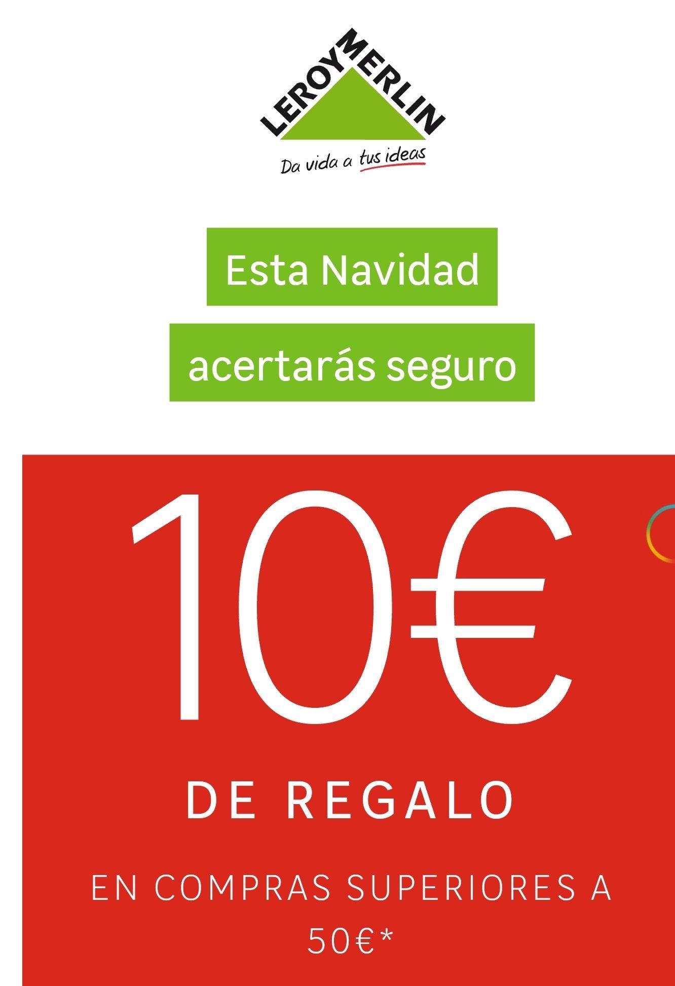 Leroy Merlín. 10€ de descuento para socios con compra mínima de 50€