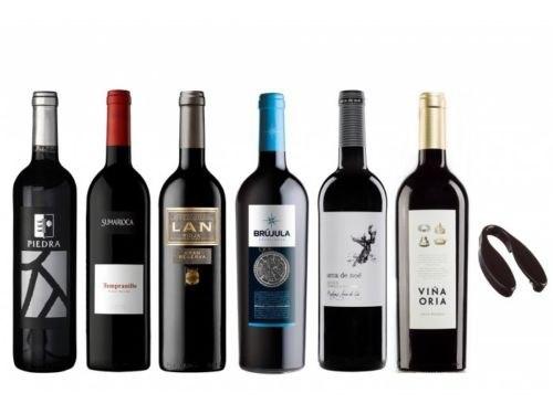 6x Vinos Tintos  tempranillos y merlot solo 29.9€