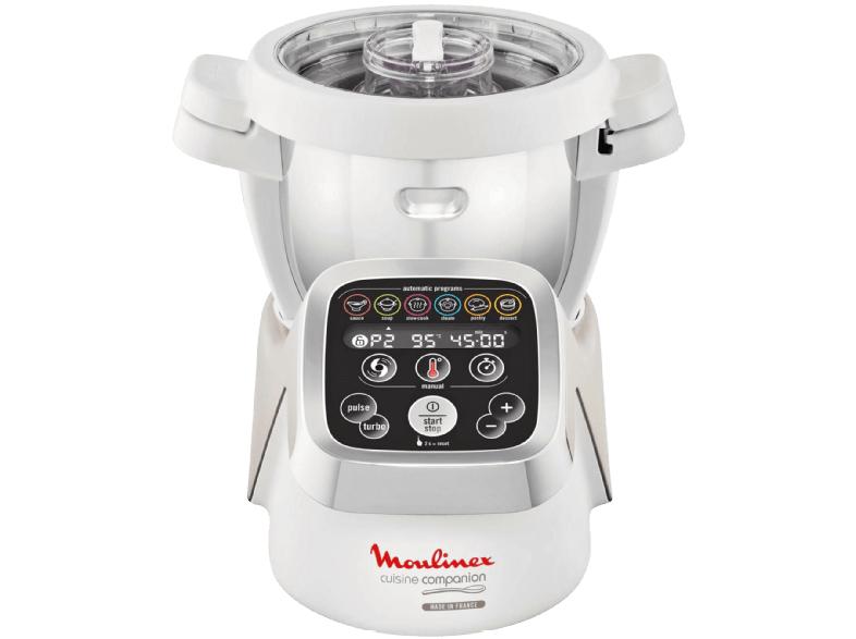 Robot de cocina - Moulinex HF800A13 Cuisine companion, 1550 W, 4.5 L, 6 programas automáticos