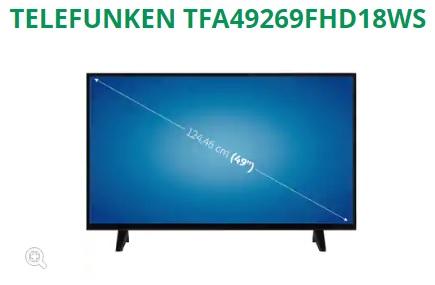"SUPER CHOLLO (49"") LED TELEFUNKEN TFA49269FHD18WS FULL HD, SMART TV, WIFI"