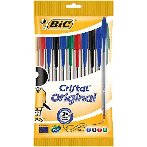 BIC Cristal Original - Pack de 10 bolígrafos