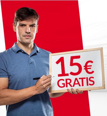 Regístrate hoy en MARCA Apuestas y te llevas 15€ (euros) sin necesidad de depositar