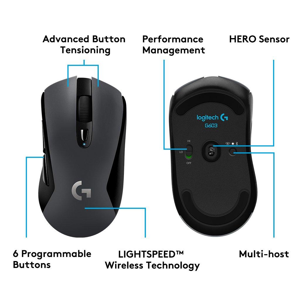 Ratón inalámbrico gaming Logitech G603